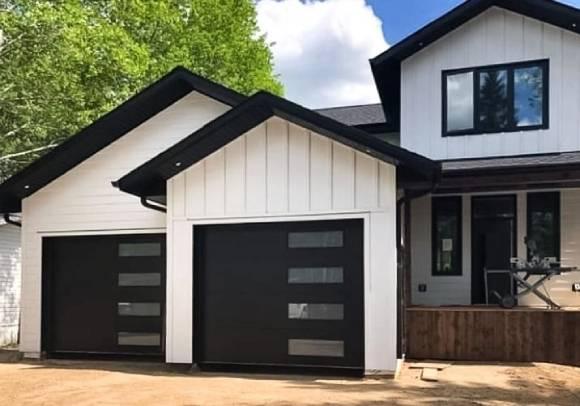 Black Garage Doors