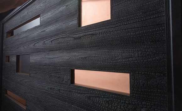 Charred Custom Wood Door