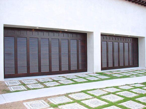 Custom-Contemporary-Wood-Garage-Door