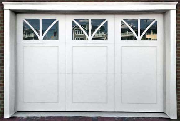 Custom White Vinyl Door