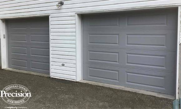 grey long panel traditional door without windows