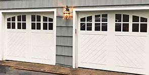 Modern Carriage House Garage Doors