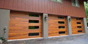 Mosaic Windows on Garage Doors