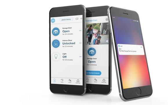 myQ alert on smartphone