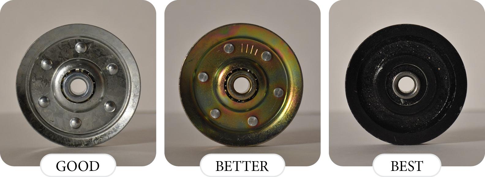 comparison of pulleys for a garage door